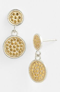Anna Beck 'Gili' Double Disc Earrings available at #Nordstrom