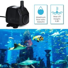 In Flavor Homasy Upgraded 400gph Submersible Pump 25w Ultra Quiet Fountain Water Pump With Fragrant