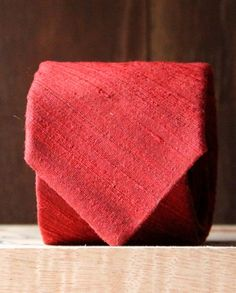 Perfect for Valentine's Day we offer this goregous red raw silk neck tie, perfect for a little  cupid's love. Exclusively for you at: #CraftCultureCo #Love #DIY #Gifts #Homemade