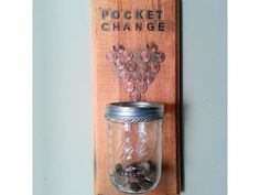 "Laundry Room Decoration: ""Pocket Change."" Mason Jar  usage at home by rosario"
