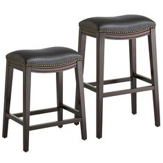 Halsted Backless Bar & Counter Stools - Black | Pier 1 Imports