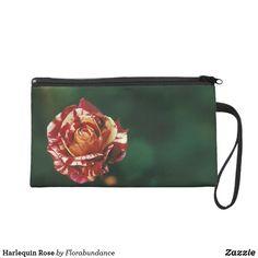 Harlequin Rose Wristlet Purse