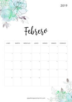 Calender Print, Calendar Notes, 2019 Calendar, Blog Planner, Monthly Planner, Agenda Organization, Spanish Teaching Resources, Bullet Journal, School Notes