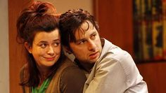 Eve Myles and Zach Braff in All New People Tickets at Duke of York's Theatre, London. 2012.