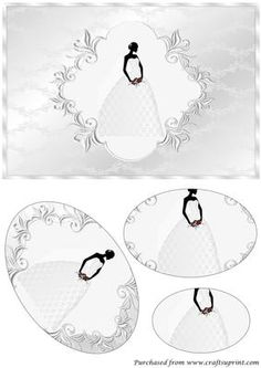 Bride with Lace Dress Oval Pyramid on Craftsuprint designed by Apetroae Stefan - Bride with Lace Dress Oval Pyramid - Now available for download!