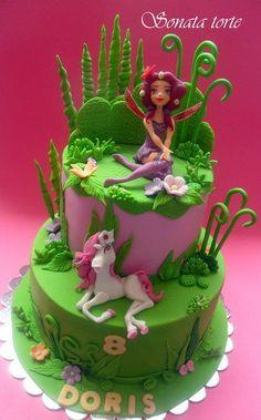 Mia & Me - Cake by Sonata Torte Cupcakes, Cupcake Cakes, Cake Pops, Cartoon Cakes, Dora Cake, Little Pony Cake, Fantasy Cake, Fairy Cakes, Tinkerbell