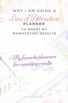 Why I am using a Law of Attraction planner to boost my manifesting results. The best Law of Attraction and motivational planners for 2020 listed in one post! Law Of Attraction Planner, Law Of Attraction Tips, List Of Affirmations, Manifesting Money, Setting Goals, Spiritual Awakening, Being Used, Reflection, Universe