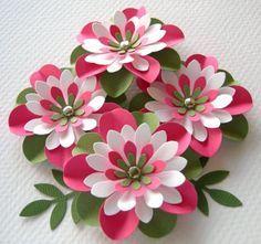 Sandía de flores de papel todo arrugado con por sarasscrappin Más