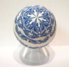 blue scroll work egg 2