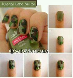 Very cool traditional camouflage nail design
