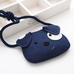 Cartoon Animal Dog Handbag Nonwoven Fabric Shoulder Bag for Kindergarten Kids – Happy Tiere Felt Purse, Diy Purse, Bunny Bags, Animal Bag, Bag Patterns To Sew, Patchwork Bags, Denim Bag, Fabric Bags, Girls Bags