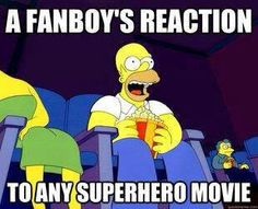Totally me with marvel movies