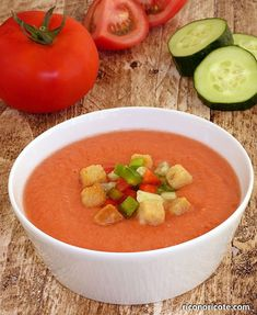 Chicken Salad Recipes, Vegetable Recipes, Soup Recipes, Vegetarian Recipes, Healthy Recipes, Gazpacho Recept, Gazpacho Soup, Madrid Food, Salty Foods