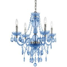 Elements 4-Light Mini Chandelier ($138) ❤ liked on Polyvore featuring home, lighting, ceiling lights, blue, lights, blue mini lights, mini chandeliers, mini lamps, four light and mini lights