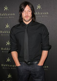 Actor Norman Reedus attends the Flaunt Magazine party celebrating the location issue with cult of individuality at Hakkasan Beverly Hills on April 21...