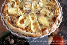 Notatnik Natalii: Wytrawna tarta z gruszkami, orzechami włoskimi i serem brie