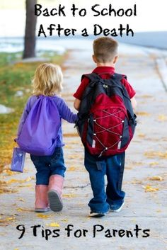 This site includes tips to help kids adjust to going back to school after the death of a loved one.