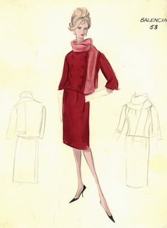 Balenciaga Suit by FIT Library Department of Special Collections, via Flickr