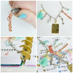 Learn to make DIY planner accessories from Kari at U Create blog. Check out the these tassel and charms tutorials to customize your planner.