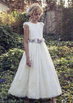 Rubio Kids - Comunión y ceremonia Little Girl Dresses, Flower Girl Dresses, Boho Wedding Dress, Wedding Dresses, Holy Communion Dresses, Maid Dress, Event Dresses, Dress Patterns, Kids Outfits