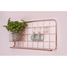 Copper kitchen rack