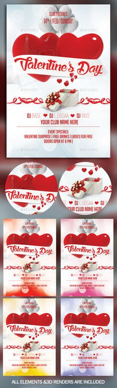valentines day flyer background