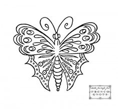 Vintage Butterfly Hand Embroidery Transfer Patterns