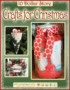 """10 Dollar Store Crafts for Christmas"" eBook 