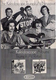 """Kaleidoscope, """"pioneering"""" band of the late 60s. Featured David Lindley (top L)."""