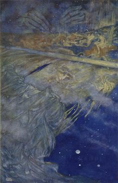 We are such stuff   as dreams are made on  - The Tempest, act IV, scene i  | Edmund Dulac