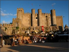The castle at Obidos, a walled medieval town. The castle is now run as an inn!