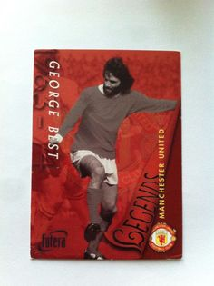 Futera Fans Selection Manchester United 50 Legends George Best 1997 Trading Card