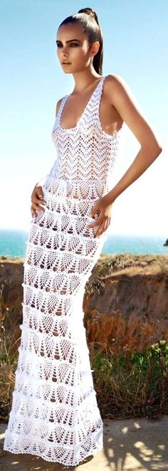 Julien MacDonald white beach cover-up maxi dress