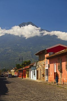 Antigua and the Water Volcano, Guatemala