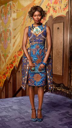 MADE OF HONOUR   A sculptured silhouette with hand-crafted embroidery and embellishments   #vlisco #wedding