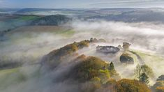 Autumn mist above Restormel Castle in Cornwall, England (© Robert Harding/Alamy) Center Blog, Maunsell Forts, Whitby Abbey, Celtic Nations, English Heritage, Europe, The Guardian, Bingo, Family Travel