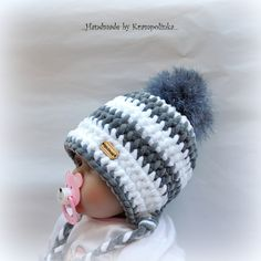 K čemu? No přeci k& Crochet Baby Hats, Knit Crochet, Birthday Wishes Greeting Cards, Baby Dolphins, String Crafts, Pet Rats, Headbands, Diy And Crafts, Scrappy Quilts
