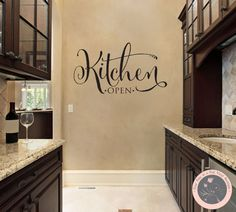 Wall Decal for the Home Kitchen Wall Decal by FourPeasinaPodVinyl, $18.00