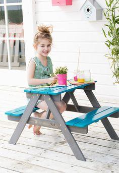 picknicktafel, kinderen, leen bakker, hout, tuintafel