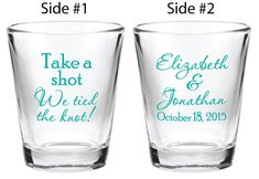 72 Wedding Favors Custom Personalized 1.5oz Glass by Factory21