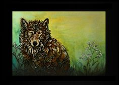 wolf -traditional painting