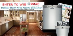 BOSCH Canada Dishwasher Giveaway - Home Trends Magazine
