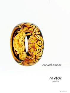Carved amber... pretty!