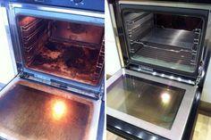 Wer ungern seinen Ofen putzt, wird diesen Trick lieben. Strahlender Glanz und fast keinen Finger krumm gemacht.