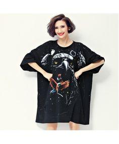 Printed short sleeved T-shirt dress