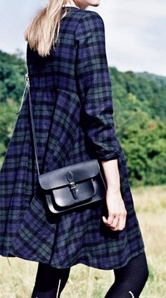 Cabbages and Roses ~ Black Watch Tartan Dress Fall 2014