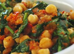 Spicy chickpeas with spinach