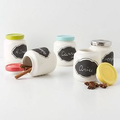 Act #5: We reuse the baby jars for crafts and storage around the house =) great new spice jars!