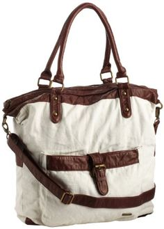 Amazon.com: Hurley Women's One and Only Book Tote, Natural Beige, One Size: Clothing