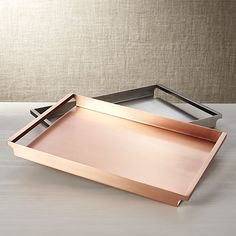 Orb Copper Tray | Crate and Barrel